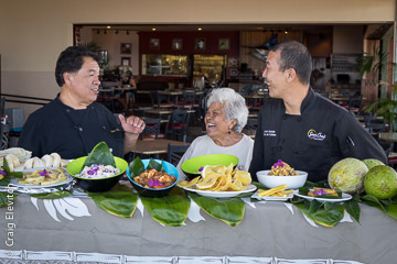 In a new educational video about cooking with breadfruit, celebrity Chef Sam Choy, cultural practitioner Shirley Kauhaihao of Honaunau and Chef De Cuisine Scott Hiraishi of Sam Choy's Kai Lanai explain how to prepare breadfruit from start to finish.