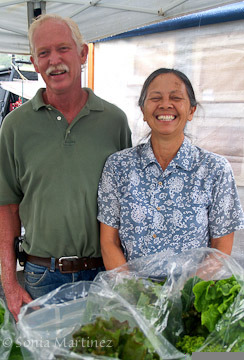 Jennifer and Rusty Perry of Kapoho Grown.